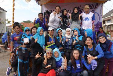 "Senam Sehat ""INTANfit"" Bersama Warga Aren Jaya, Bekasi Timur"