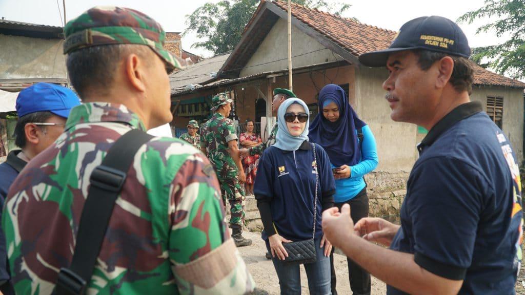 Intan Fauzi meninjau kerjasama Kodim 507, Dinas PUPR, & Perum Jasa Tirta di Situ Rawa Bebek