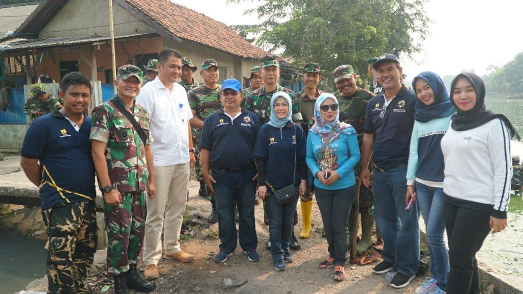 Intan Fauzi mengawasi kerjasama Kodim 507, Dinas PUPR, & Perum Jasa Tirta di Situ Rawa Bebek