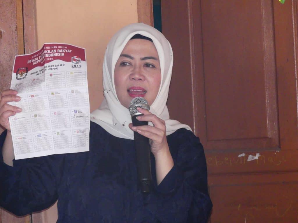 Intan Fauzi: Pilihlah Caleg DPR RI Yang Siap Bertanggungjawab Kepada Rakyat