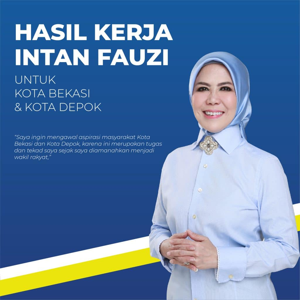 12 Hasil Kerja Anggota DPR RI Intan Fauzi untuk Kota Bekasi & Depok