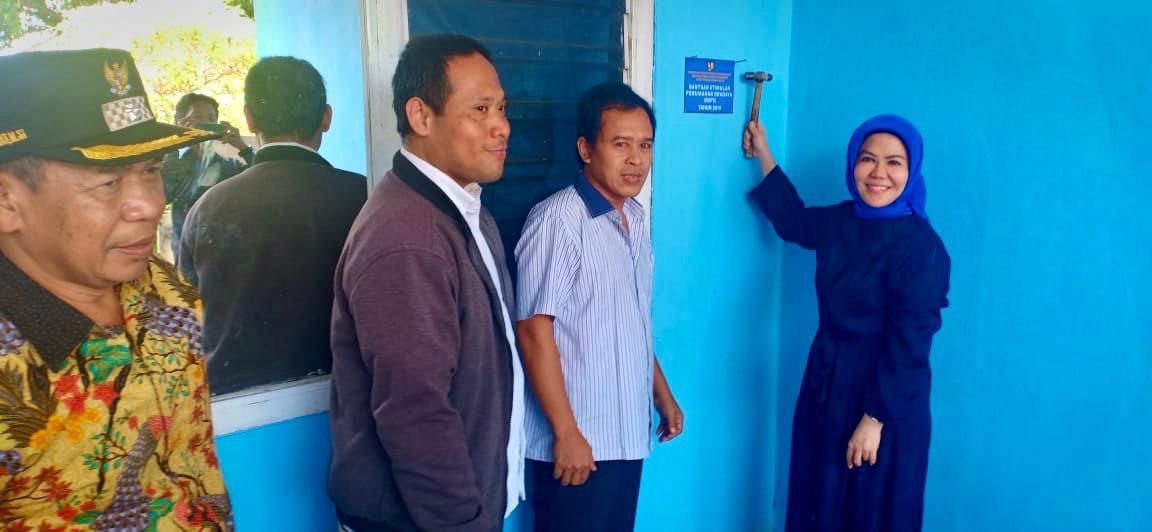 Anggota DPR RI Intan Fauzi Pasang Papan Peneng BSPS  di Depok